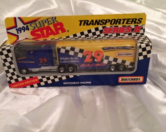 Matchbox 1993 Limited Edition Super Star Transporter Series II Truck Box From White Rose Collectibles # 29 Phil Parsons .