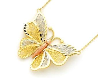 14k Butterfly Ring Butterfly Ring Gold Butterfly Ring Gold