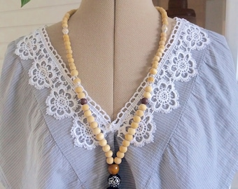 Necklace with black tassel