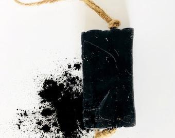 Activated Charcoal Soap / Vegan Soap / Peppermint Soap / natural soap / bar soap / herbal soap / detox soap / magic soap / mothers day