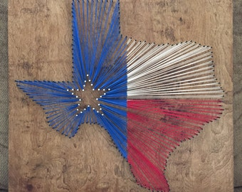Texas Flag String Art