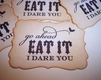 Eat It I Dare You Sticker Labels set of 6