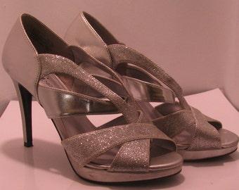 Fioni night size 7.5 Silver and glitter