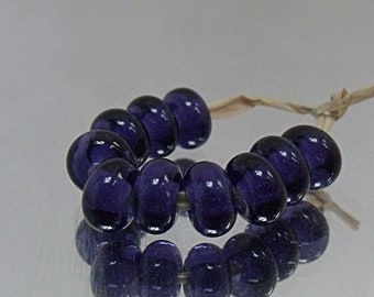 Dark Amephyst, Lampwork Spacer Beads, SRA, UK