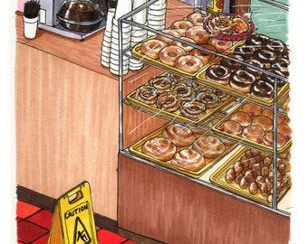"Donut Shop – 4""x6"" PRINT"