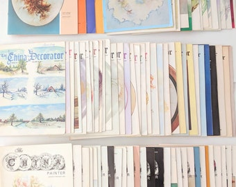 80 issues China Painting Magazines Porcelain Artist The China Painter The China Decorator 1970s 1980s