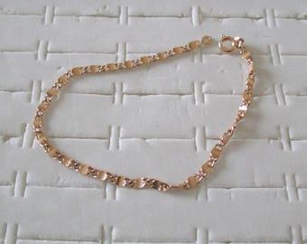 gold plated bracelet mesh railway