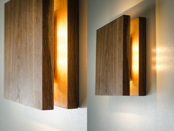 Wall lamp sc173 handmade wood lamp plug in wall sconce te gusta este artculo aloadofball Images