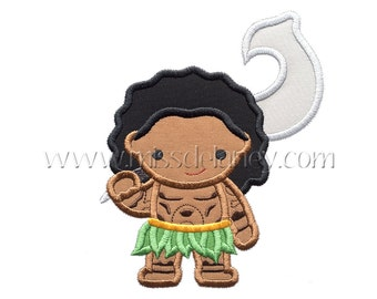 Island Demigod Applique Design