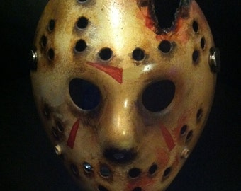 JASON MASK Friday the 13th part IV 4 Replica prop Costume Custom Painted Cosplay Jason Voorhees