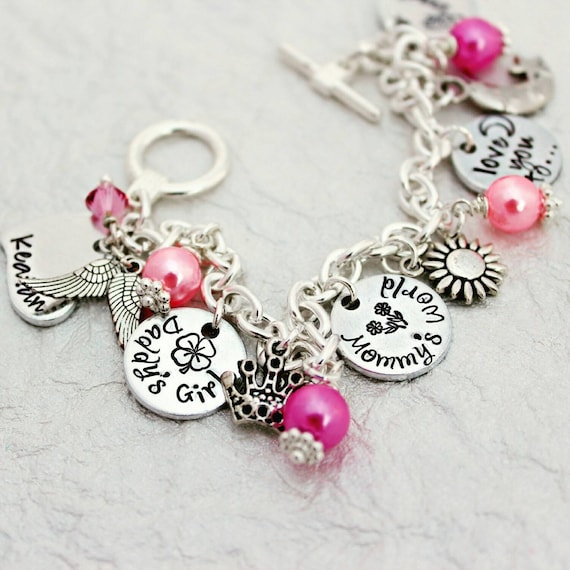 daughter charm bride gift bracelet little girl from media mother my wedding for