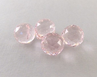 Pink Faceted Onion Briolettes 22 x 20mm Beads
