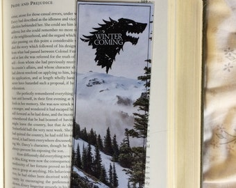 Game of Thrones Winter is Coming Quote Bookmark