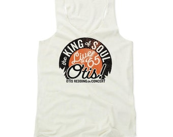 Otis Redding Women's Shirt | Soul Music | Women's Tank Top | Otis Redding Live O