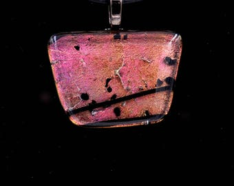 Rusty Red Dichroic Pendant