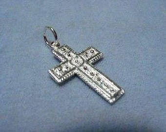 Cross Sterling Silver 1 inch