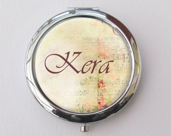 Personalized Compact Mirror, Custom Bridesmaid Gift, Purse Mirror, Set of Compact Mirrors