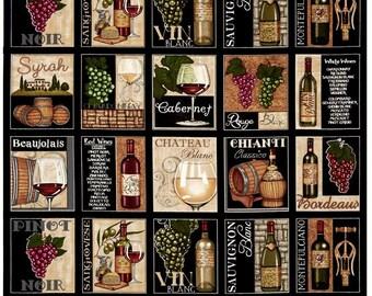 Over A Barrel Wine Patch - Dan Morris for RJR Fabrics - BTY