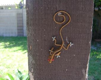 Handmade Copper Wire Wrapped Lizard