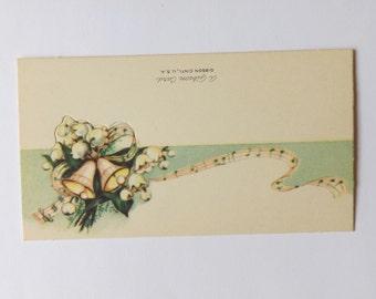 Vintage wedding place card wedding bells and music by Gibson ephemera