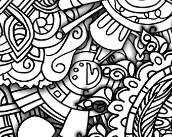 10 Doodle Filled Set2 ColoringPages Original Art Coloring Book For Adults: Coloring Therapy, Coloring