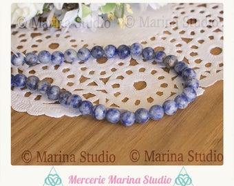 Sodalite natural 6mm - semi precious beads 10 beads