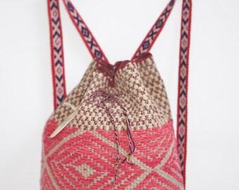 FREE SHIPPING! Bohemian backpack, Hipster handmade bag, gypsy peruvian backpack, artisan backpack, vintage backpack, peruvian backpack