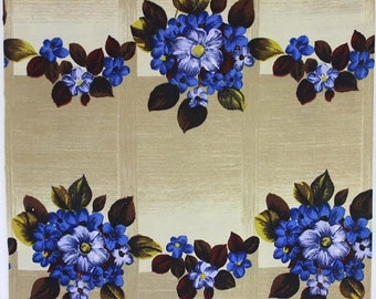 Original mid century fabric, viscose curtain fabric