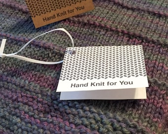 Fold-Over Gift Tags for Hand Knits, Printable