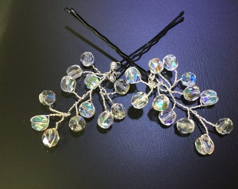 Bridal wedding crystal hair pins
