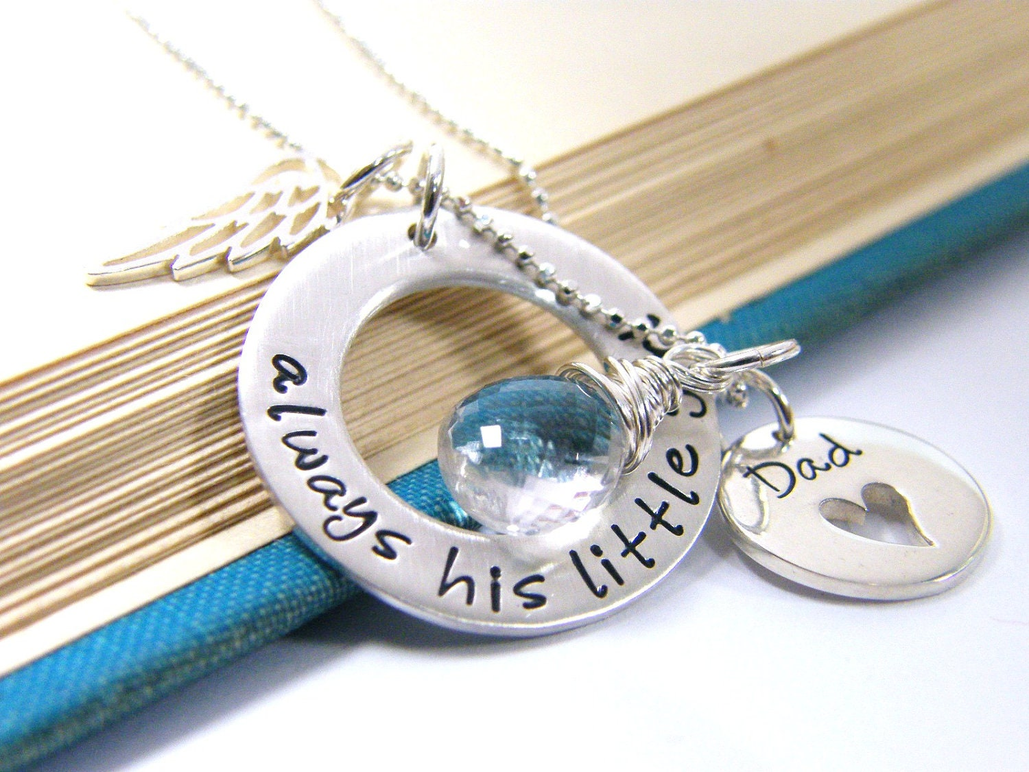 Daddy daughter mother daughter memorial necklace always his zoom mozeypictures Choice Image
