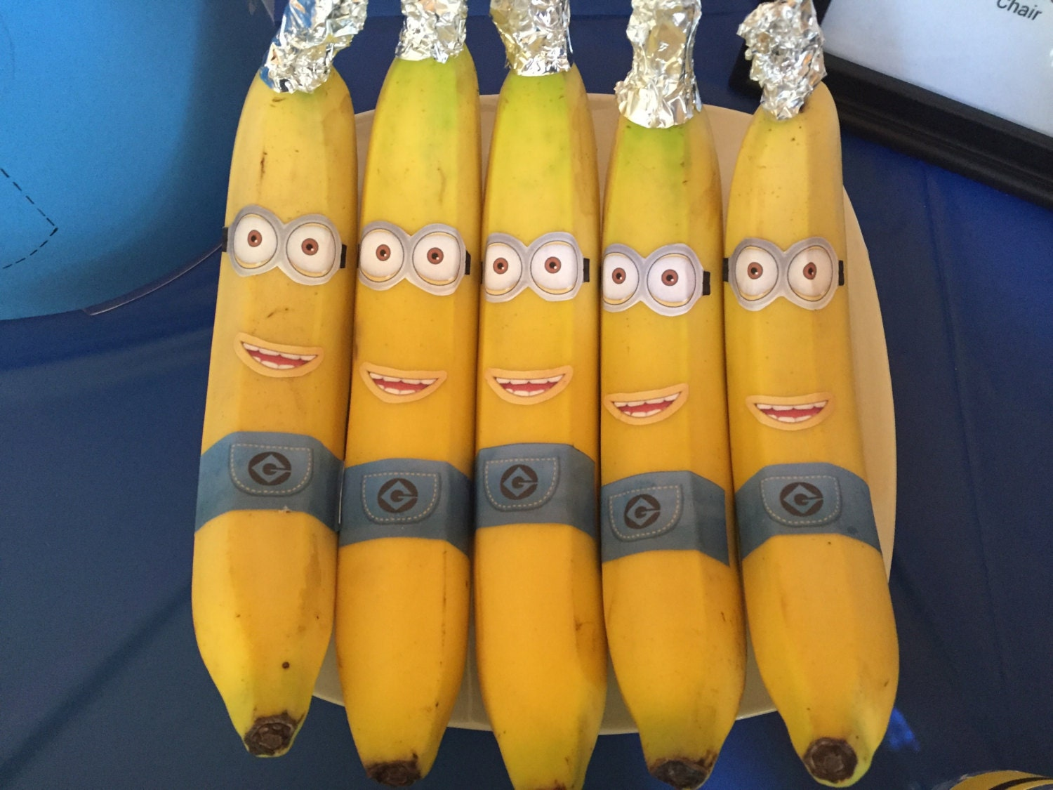 Minion Despicable Me Inspired Idea For Kids Birthday Party Decoration  BANANA PRINTABLE Instant Download