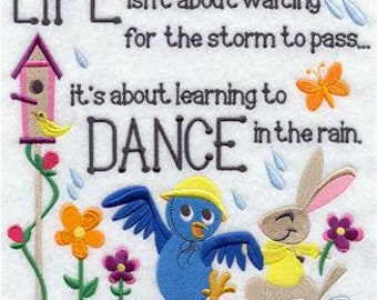 Learning to Dance in the Rain Quilt block