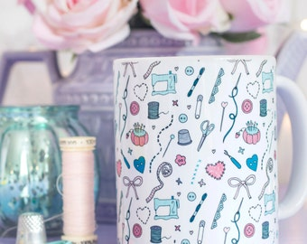 Sewing Pattern Mug - Those Who Sew Collection - Gift for sewing fans