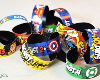 Custom Superhero Countdown Chain
