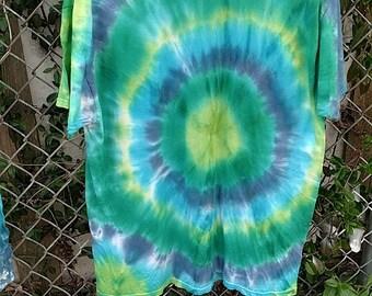 Earthy circle tye dye L