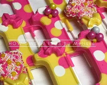 "Number ""1"" Chocolate Lollipops (1 dozen)"