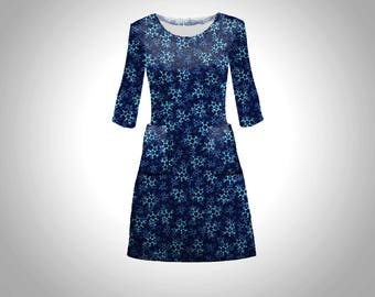 Blue caffeine pockets dress