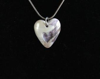 Wampum Heart Pendant Necklace