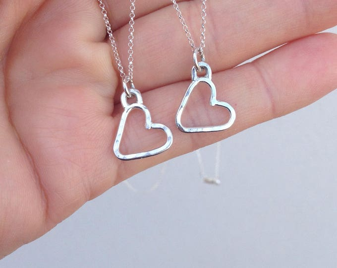 """Heart Pendant with 16"""" silver chain"""
