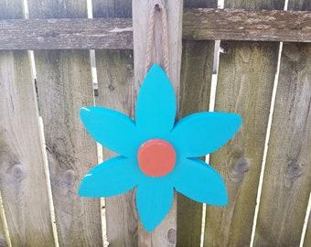 Hand Crafted Wooden Flower Yard Art