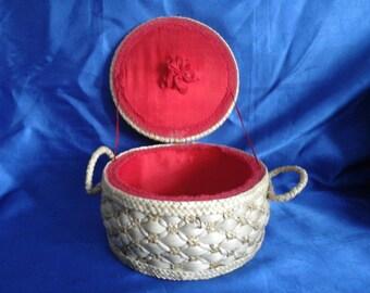 Ratan Sewing Basket