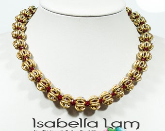 BOLITAS CRESCENT  Beadwork Necklace or Bracelet Pdf tutorial instructions for personal use only