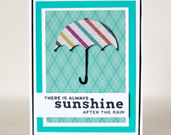 Encouragement Card | Inspirational Card | Sympathy Card | There's Always Sunshine After The Rain