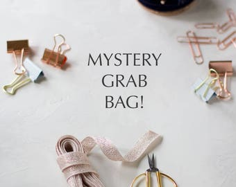 Mystery Grab Bag - Ribbons Twine  / Home Office / Packaging Gift Wrap / Bags / Embellishments / Stationery / Stickers / Tape / Party