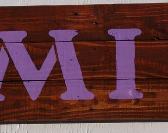 Rustic Wood Family Sign Hand Painted