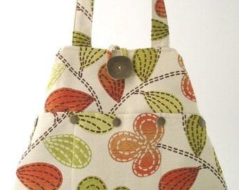 shoulder tote, fabric handbag, floral purse, fabric tote bag, shoulder bag, tote with pockets, shoulder purse, hobo bag