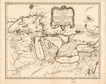 Great Lakes Map 1755 (light)