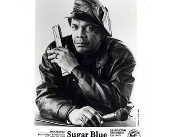 Sugar Blue Publicity Photo 8 by 10 B&W