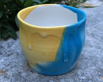 Wheel thrown stoneware pottery cup